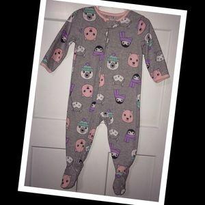 Carters fleece 12m baby girl sleeper🧸EUC🧸